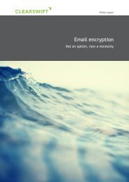 Email Encryption - Not an option, now a necessity - Clearswift