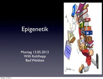 Epigenetik 13.Mai 2013 - drkohlhepp