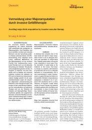 Vermeidung einer Majoramputation durch invasive Gefäßtherapie