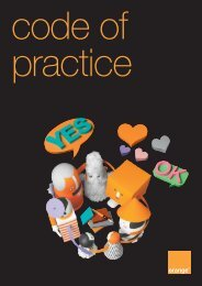 Orange Consumer Codes of Practice