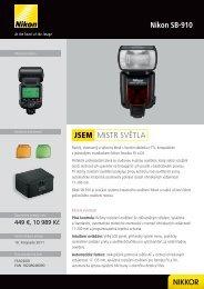 MISTR SVĚTLA JSEM Nikon SB-910