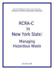 RCRA-C in New York State: Managing Hazardous Waste - Port ...