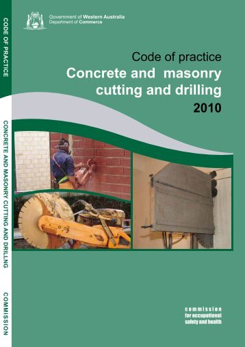 Concrete and masonry cutting and drilling - Department of Commerce