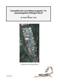 Umweltbericht zum Bebauungsplan 11c ... - Stadt Dillingen