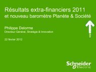 Les résultats extra-financiers 2009-2011 - Schneider Electric