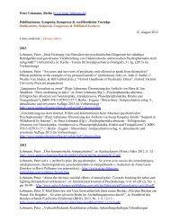 Peter Lehmann, Berlin (www.peter-lehmann.de) Publikationen ...