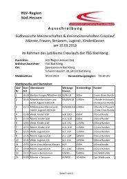 HLV-Region Süd-Hessen - Leichtathletikweb.de