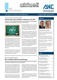 Kehrtwende: jetzt schnellerer Wechsel in die PKV Neu ... - V-Aktuell