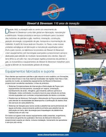 Equipamentos fabricados e suporte - Stewart & Stevenson