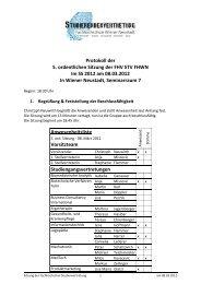 Protokoll der 5. ordentlichen Sitzung der FHV STV FHWN Im SS ...