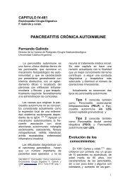 PANCREATITIS CRÓNICA AUTOINMUNE - sacd.org.ar
