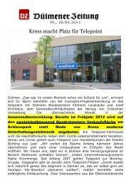 neue KRESS-Ansiedlung in - IG Nördliche Altstadt Soest