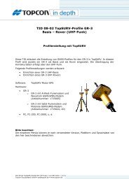 TID 08-02 TopSURV-Profile GR-3 Basis – Rover (UHF-Funk)