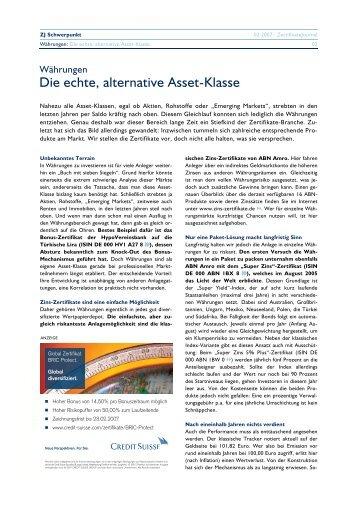 Die echte, alternative Asset-Klasse - Willkommen bei - FRANK ...