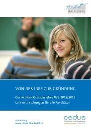 Curriculum Gründerlehre WS 2012/2013 - Center for ...