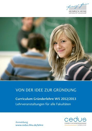 Curriculum Gründerlehre WS 2012/2013 - Center for ...