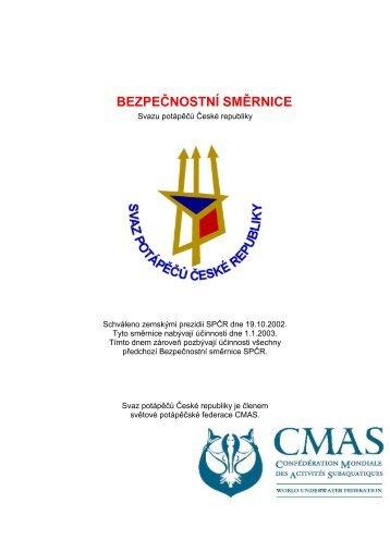 Bezpečnostní směrnice SPČR 2003 (PDF) - Strany potápěčské