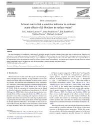 Is heart rate in fish a sensitive indicator to evaluate ... - ResearchGate