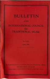Apr 1984 - International Council for Traditional Music