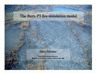 2) The Burn-P3 fire simulation model; Kerry Anderson, CFS (PDF)