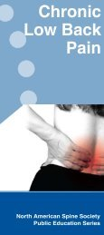 Chronic Low Back Pain - KnowYourBack.org