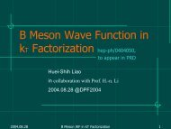 B Meson Wave Function in - DPF 2004