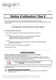 I See 2 Notice d'utilisation FR v1210 - Degré K