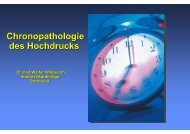 chronopathologie des hochdrucks