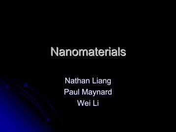 Nanomaterials - MGNet