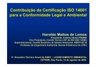Contribuição da Certificação ISO 14001 para a ... - ASEC