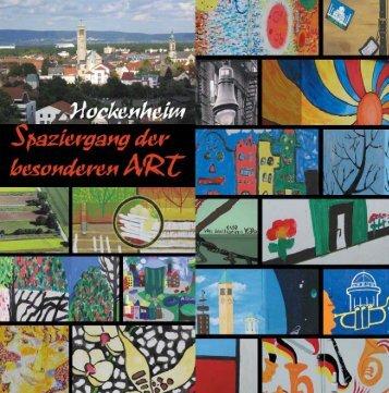 """Flyer """"Spaziergang der besonderen ART - Kunstverein Hockenheim"""
