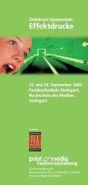 Effektdrucke - Print & Media Forum AG