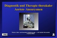 Diagnose und Therapie thorak. Aortenaneurysmen - FINeST