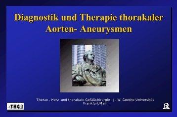 Diagnose und Therapie thorak. Aortenaneurysmen - FINeST