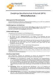 Wirtschaftsschule - HLA Rastatt