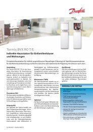 Termix BVX RO T/E Indirekte Hausstation für ... - Danfoss