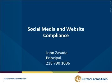 Social Media and Website Compliance