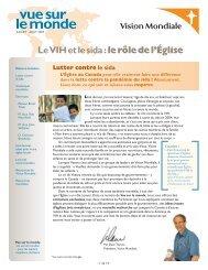 Le VIH et le sida : le rôle de l'Église - Portail VIH / sida du Québec