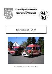 Gemeinde Windeck Jahresbericht 2007 - Feuerwehr Windeck