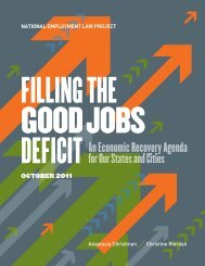 Filling the Good Jobs Deficit - National Employment Law Project