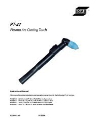 PT-27 Plasma Arc Cutting Torch