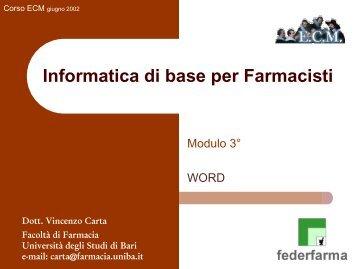Microsoft Word - Università degli Studi di Bari