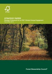 Strategic Framework for an FSC® Climate Change Engagement