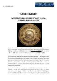 Post-Sale Press Release - Thomas Del Mar