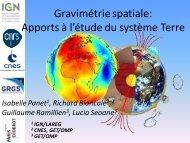 Gravimétrie spatiale: apports à l'étude du système ... - Recherche - IGN