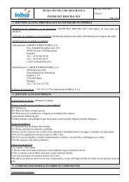 ficha técnica de segurança instrunet biocida m15 - VectWeb SM