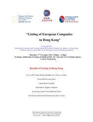 """""""Listing of European Companies in Hong Kong"""" - The Hong Kong ..."""
