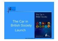 The Car in British Society Launch PJ - RAC Foundation