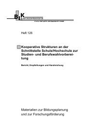 Heft 126 - Bund-Länder-Kommission für Bildungsplanung