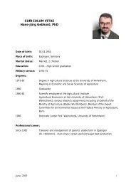 Curriculum Vitae of Mr. Hans-Jörg Gebhard - Agrana